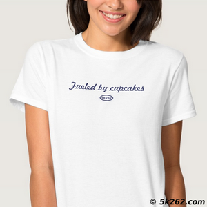 running shirt image: Fueled by cupcakes