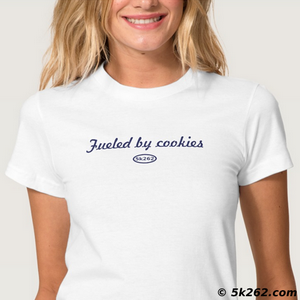 running shirt image: Fueled by cookies