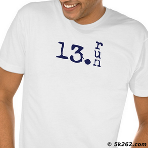 half marathon running shirt image: 13.run