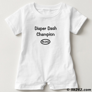 funny running shirt graphic: Diaper Dash Champion